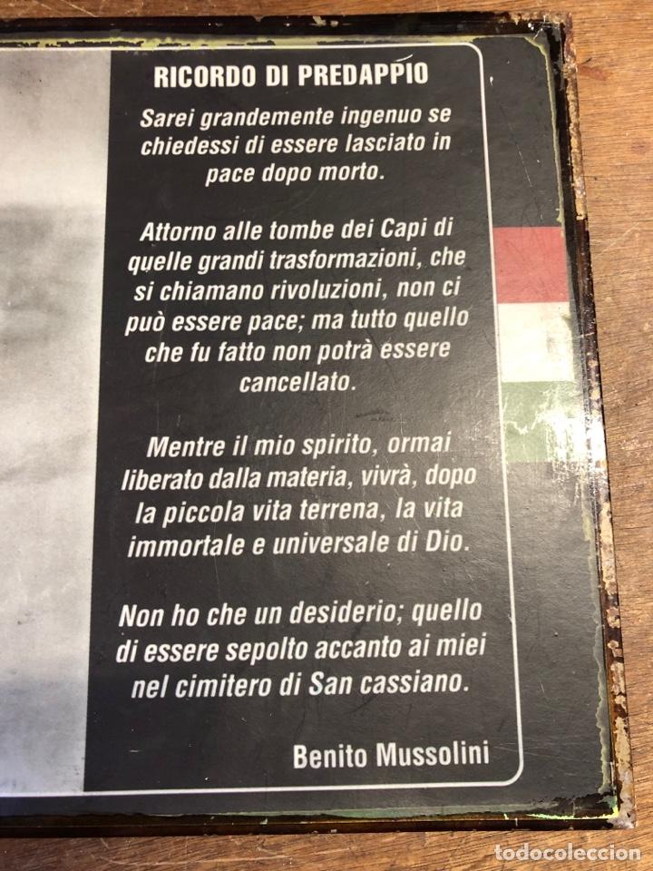 Militaria: Chapa de BENITO MUSSOLINI 35x26,5cm - Foto 3 - 231313030