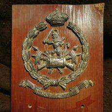 Militaria: METOPA MILITAR RCLAC. VILLAVICIOSA 14.CABALLERIA.AÑOS 80. Lote 233464235
