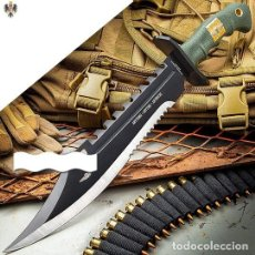 Militaria: CUCHILLO MARINES RECON BOWIE + FUNDA 29 CMS ** 1 UNIDAD DISPONIBLE. Lote 235062880