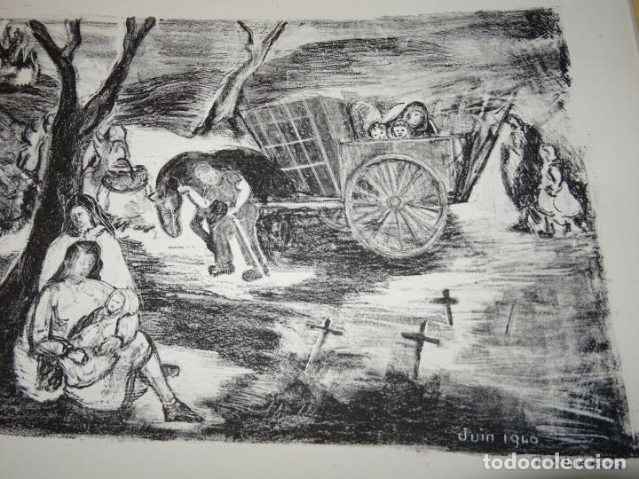 ANTIGUO GRABADO DE JUNIO 1940 BATALLA DE FRANCIA TEMATICA ALEMANIA NAZI SEGUNDA GUERRA MUNDIAL (Militar - Reproducciones, Réplicas y Objetos Decorativos)