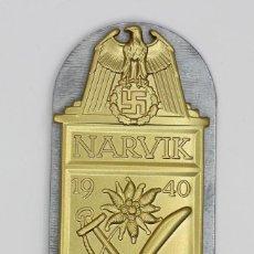 Militaria: REPRODUCCIÓN ESCUDO DE NARVIK. Lote 242445985