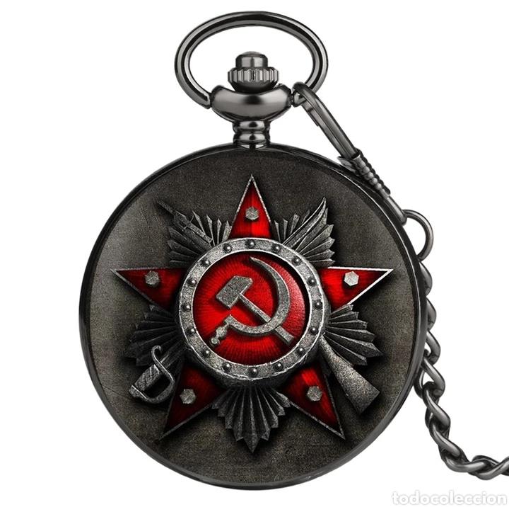 Militaria: RELOJ DE BOLSILLO ANTIGUO EMBLEMA DE LA UNIÓN SOVIÉTICA. CCCP. RUSIA - Foto 5 - 243192250