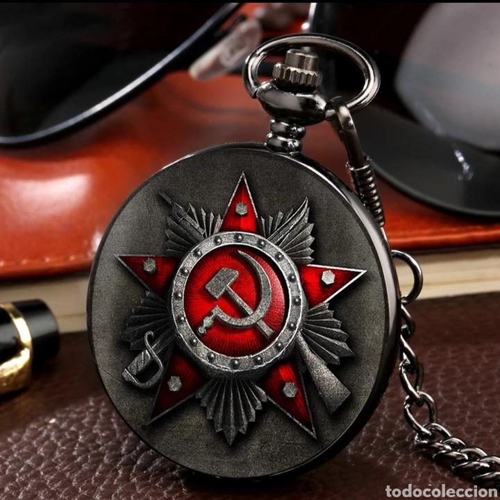 RELOJ DE BOLSILLO ANTIGUO EMBLEMA DE LA UNIÓN SOVIÉTICA. CCCP. RUSIA (Militar - Reproducciones, Réplicas y Objetos Decorativos)