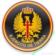 Militaria: 08210 - IMÁN FRIGO REDONDO EJÉRCITO TIERRA D:5. Lote 244843535