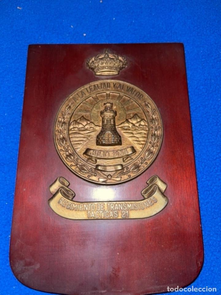 Militaria: Preciosa metopa regimiento de transmisiones tácticas 21 - Foto 2 - 245027535
