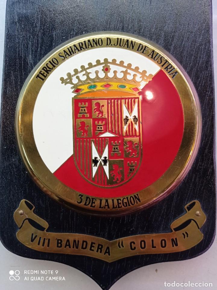 Militaria: Metopa de la Legión, Tercio Sahariano, D.Juan de Austria, VIII bandera Colon - Foto 2 - 247465580