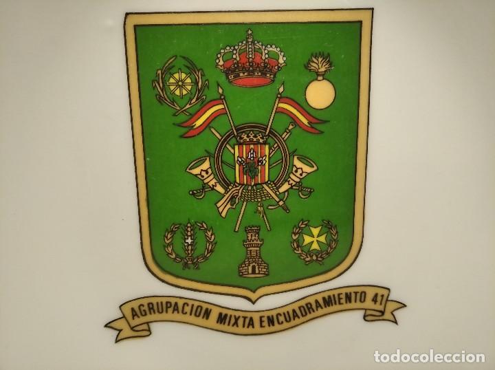 ANTIGUO CENICERO AGRUPACIÓN MIXTA ENCUADRAMIENTO Nº 41 - LLEIDA - EJÉRCITO - MILITAR - ESPAÑA (Militar - Reproducciones, Réplicas y Objetos Decorativos)