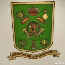 Militaria: ANTIGUO CENICERO AGRUPACIÓN MIXTA ENCUADRAMIENTO Nº 41 - LLEIDA - EJÉRCITO - MILITAR - ESPAÑA. Lote 248073065