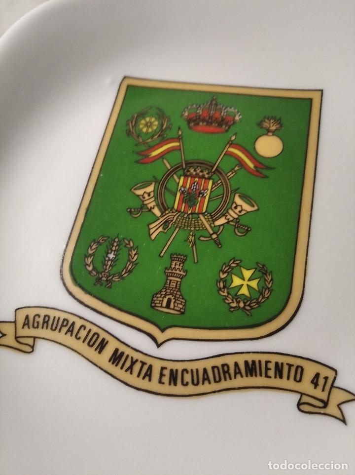 Militaria: ANTIGUO CENICERO AGRUPACIÓN MIXTA ENCUADRAMIENTO Nº 41 - LLEIDA - EJÉRCITO - MILITAR - ESPAÑA - Foto 4 - 248073065