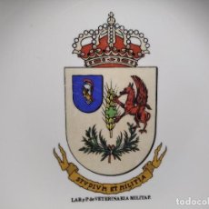 Militaria: ANTIGUO CENICERO LABORATORIO DE VETERINARIA MILITAR - STVDIVM ET MILITIA - EJÉRCITO - ESPAÑA -. Lote 248076820