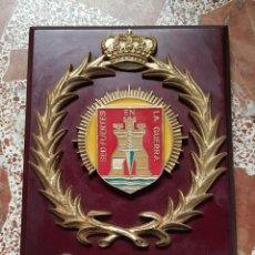 Militaria: ANTIGUA METOPA GRUPO DE INTENDENCIA DE LA DIMZ, GUZMAN EL BUENO Nº 2, SEVILLA. Lote 28338414