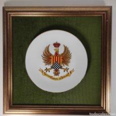 Militaria: PLATO PORCELANA CAPITANÍA GENERAL DE CATALUÑA. Lote 251810730
