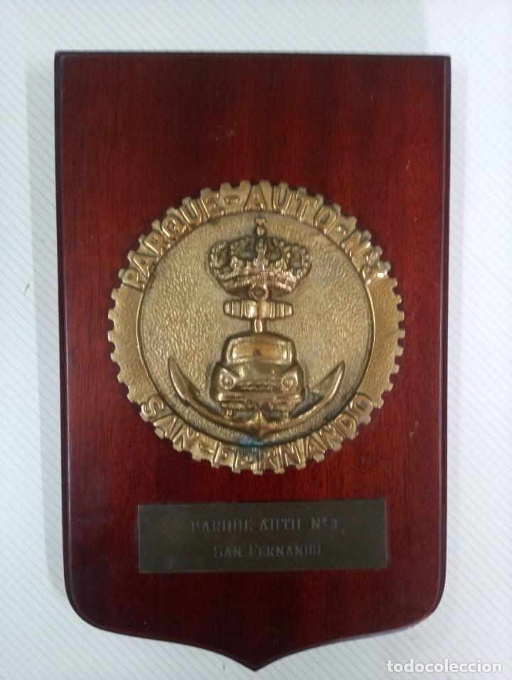 METOPA PARQUE DE AUTO N° 3 DE SAN FERNANDO. (Militar - Reproducciones, Réplicas y Objetos Decorativos)