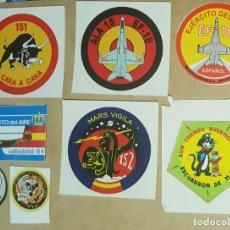 Militaria: COLECCIÓN DE PEGATINAS DEL EJÉRCITO DEL AIRE. Lote 253779975