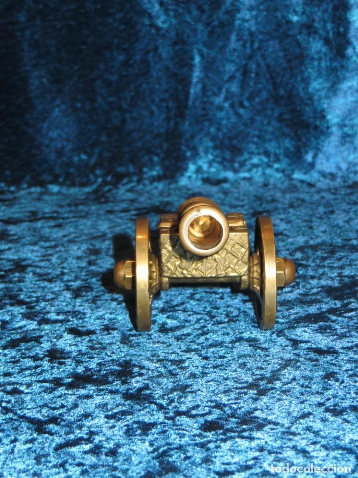 Militaria: Antiguo cañón bronce reproducción artesanía militar relieves grabados - Foto 8 - 254824825