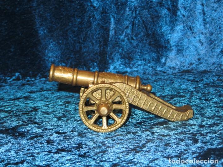 Militaria: Antiguo cañón bronce reproducción artesanía militar relieves grabados - Foto 12 - 254824825