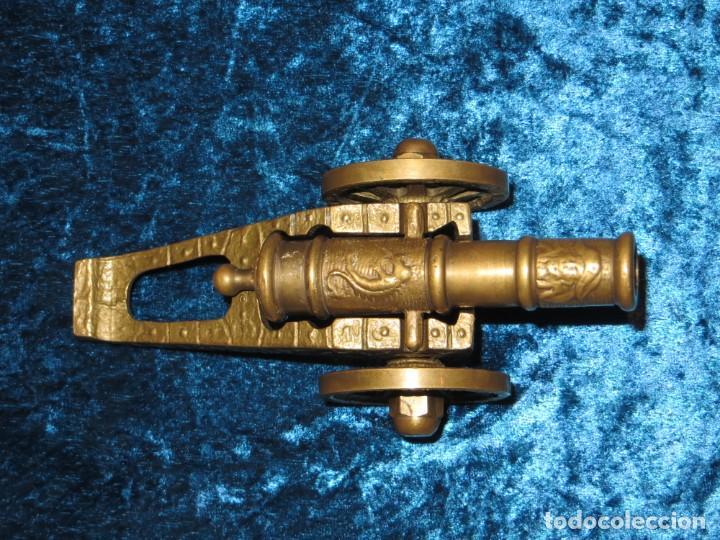 Militaria: Antiguo cañón bronce reproducción artesanía militar relieves grabados - Foto 17 - 254824825