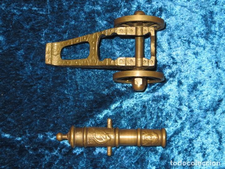 Militaria: Antiguo cañón bronce reproducción artesanía militar relieves grabados - Foto 18 - 254824825