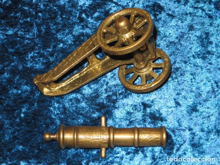Militaria: Antiguo cañón bronce reproducción artesanía militar relieves grabados - Foto 21 - 254824825