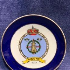 Militaria: PLATO DECORATIVO MILITAR RING N 8 MELILLA CERAMICAS MARIBEL 1,5X12CMS. Lote 255539400