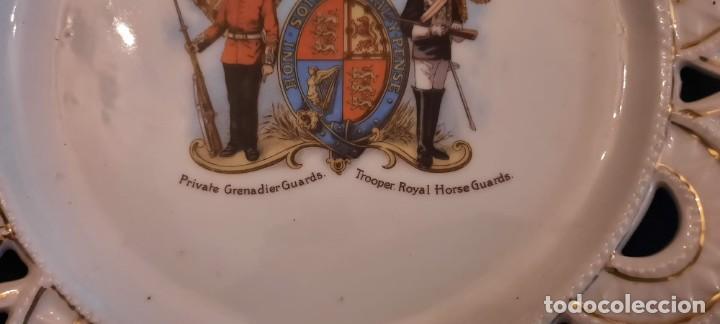 Militaria: Guardia real inglesa, plato victoriano, siglo xix - Foto 3 - 259043265