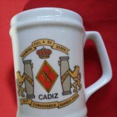 Militaria: JARRA GUARDIA CIVIL COMANDANCIA DE CADIZ.. Lote 260595440
