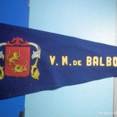 Militaria: BAMDERIN - EJERCITO ESPAÑOL, CAÑONERO - FRAGATA F-33 , VAZQUEZ NUÑEZ V.N DE BALBOA - 47 X 24 CM. Lote 260718330