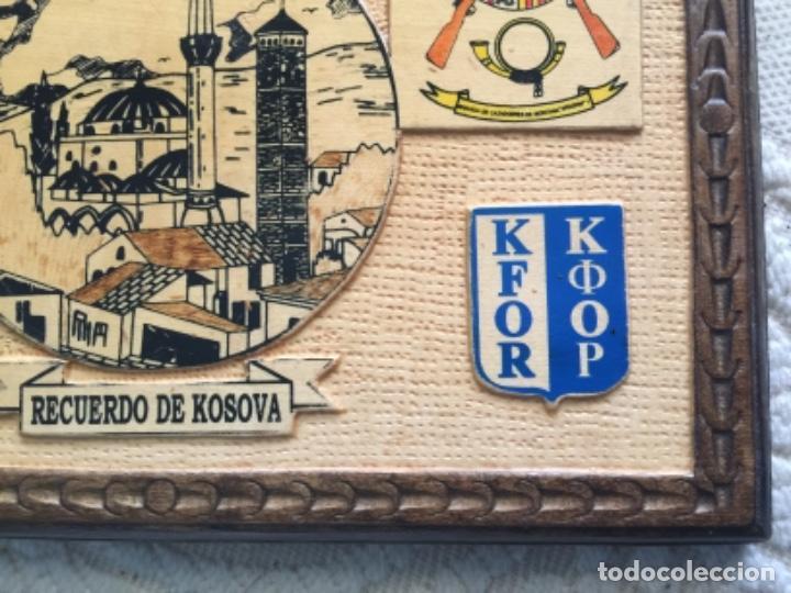 Militaria: BONITO CUADRO EN MADERA , MISION MILITAR ESPAÑOLA EN KOSOVO , KFOR , OTAN - Foto 3 - 260751490