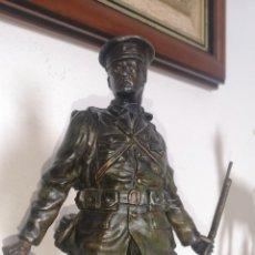 Militaria: ANTIGUA CALAMINA DE SOLDADO DE LA PRIMERA GUERRA MUNDIAL, FIRMADA POR RUFFONY. Lote 262560235