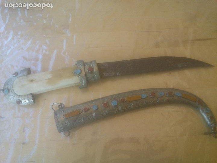 ANTIGUA DAGA ARTESANIA MARRUECOS AFRICA (Militar - Reproducciones, Réplicas y Objetos Decorativos)