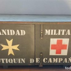 Militaria: ANTIGUA Y PRECIOSA CAJA MUEBLE DE MADERA - BOTIQUIN DE CAMPAÑA - SANIDAD MILITAR - CAJA Nº2 - EJERCI. Lote 265439839