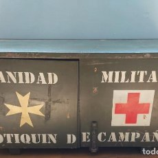 Militaria: PRECIOSA CAJA MUEBLE DE MADERA - BOTIQUIN DE CAMPAÑA - SANIDAD MILITAR - CAJA Nº1 - EJERCITO ESPAÑOL. Lote 265757604