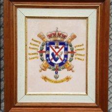 Militaria: METOPA CUADRO DE PORCELANA DEL REGIMIENTO DE ARTILLERIA MIXTO Nº 93. Lote 267424759