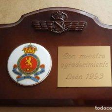 Militaria: METOPA DE LA ACADEMIA BÁSICA DEL EJERCITO DEL AIRE (ABA) DE LEON. Lote 267424894
