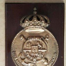 Militaria: METOPA DE BRONCE DE LA ZONA MARITIMA DEL CANTABRICO. ARMADA ESPAÑOLA. Lote 267425249