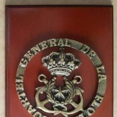 Militaria: METOPA DE BRONCE DEL CUARTEL GENERAL DE LA FLOTA (ARMADA ESPAÑOLA). Lote 267425304