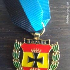 Militaria: REPRODUCCIÓN RARÍSIMA MEDALLA DIVISIÓN AZUL VIUDAS HERMANDAD BURGOS. Lote 267825564