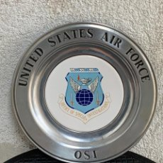 Militaria: PLATO METAL FUERZAS AEREAS USA AIR FORCE OSI OFICINA ESPECIAL INVESTIGACIONES WILTON COLUMBIA USA. Lote 269960453