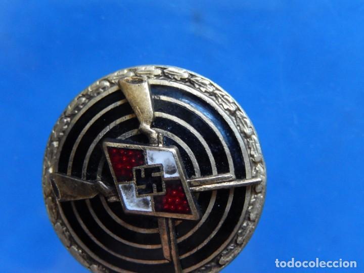Militaria: EIO. Alemania. Insignia tirador de la Juventudes Hitlerianas. Reproducción o copia antigua. - Foto 7 - 271572443