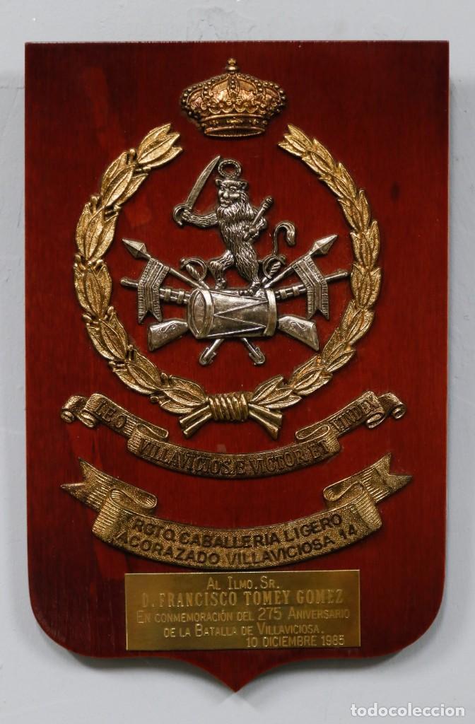 METOPA REGIMIENTO CABALLERIA LIGERO ACORAZADO VILLAVICIOSA 14 (Militar - Reproducciones, Réplicas y Objetos Decorativos)