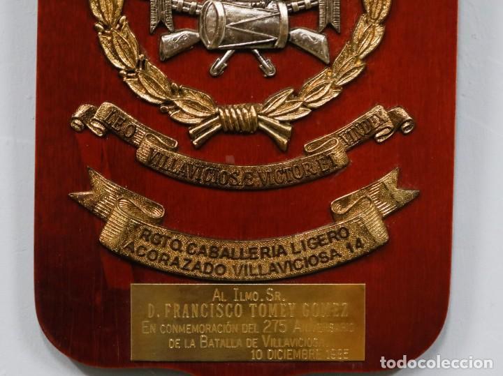 Militaria: METOPA REGIMIENTO CABALLERIA LIGERO ACORAZADO VILLAVICIOSA 14 - Foto 3 - 271575293