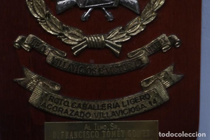 Militaria: METOPA REGIMIENTO CABALLERIA LIGERO ACORAZADO VILLAVICIOSA 14 - Foto 4 - 271575293