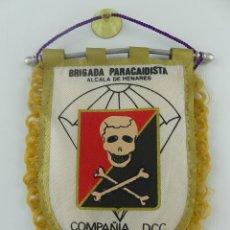 Militaria: BANDERIN BRIGADA PARACAIDISTA ALCALA DE HENARES COMPANIA DCC 5 ANIVERSARIO 1987-1991. Lote 275875633