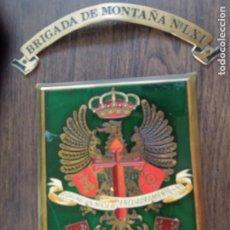 Militaria: ANTIGUA METOPA BRIGADA DE MONTAÑA Nº LXI - AGRUPACIÓN MIXTA DE ENCUADRAMIENTO Nº 61.. Lote 277077203