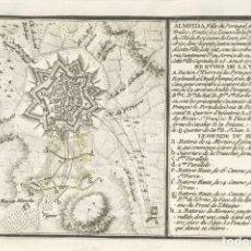 Militaria: RÉPLICA LÁMINA SITIO DE ALMEIDA, PORTUGAL. MARQUÉS DE SARRIÁ, ESPAÑA. 1762. SIGLO XIX. GUERRA. Lote 280123163