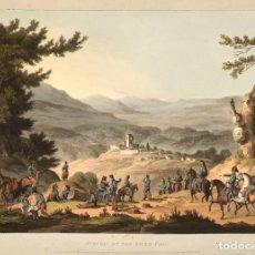 Militaria: RÉPLICA LÁMINA BATALLA DE SABUGAL, PORTUGAL. INGLATERRA – FRANCIA. 1811. SIGLO XIX. GUERRAS NAPOLEÓN. Lote 280123238