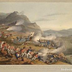 Militaria: RÉPLICA LÁMINA BATALLA DE BUSACCO, PORTUGAL. INGLATERRA – FRANCIA. 1810. SIGLO XIX. GUERRAS NAPOLEÓN. Lote 280123443
