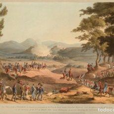 Militaria: RÉPLICA LÁMINA ACCIÓN DE POMBAL, PORTUGAL. INGLATERRA WELLINGTON – FRANCIA MASSENA. 1811. SIGLO XIX.. Lote 280123523
