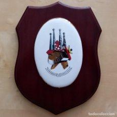 Militaria: METOPA ESCUDO COMANDANCIA GUARDIA CIVIL 411 BARCELONA. Lote 287814818