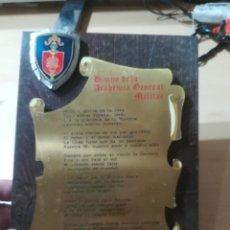 Militaria: HIMNO DE LA ACADEMIA GENERAL MILITAR / METOPA, PLACA / / AL15. Lote 288390408